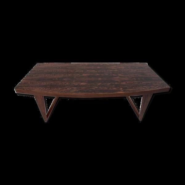 Table basse longue de rosewood
