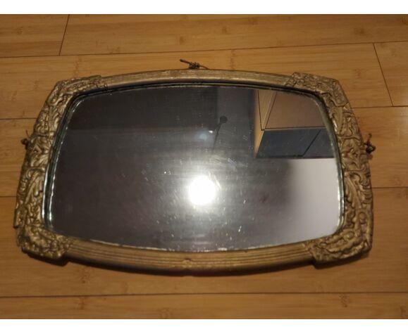 Miroir art déco en bois peint 33 X 51 cm