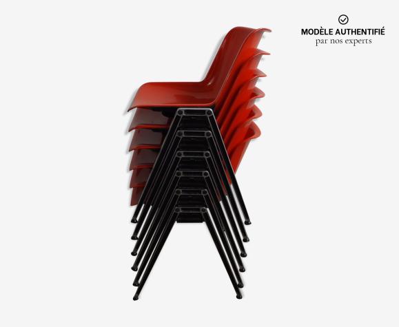 6 chaises Modus d'Osvaldo Borsani pour Tecno