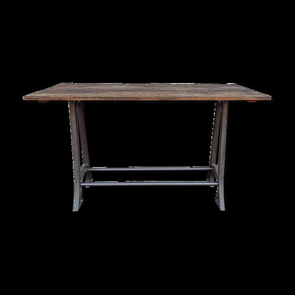 Selency Table haute en bois type mange-debout