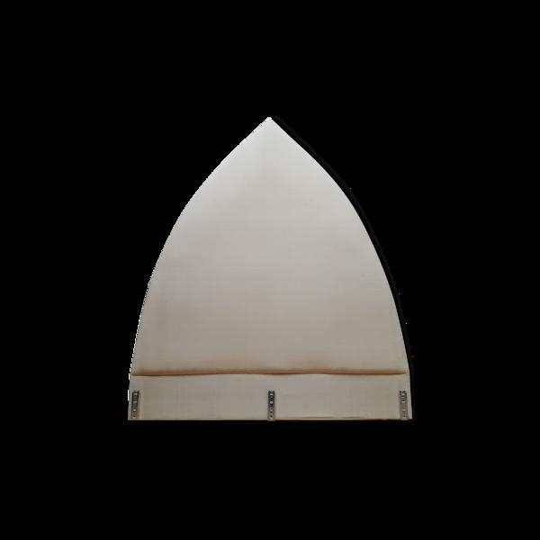 Tête de lit vintage soie ivoire Agnes Comar