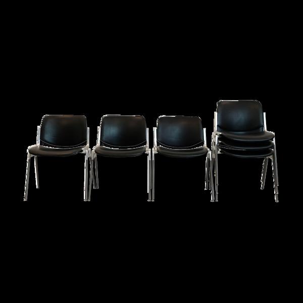 Suite de six chaises DSC Axis 106, Giancarlo Piretti pour Castelli, 1960