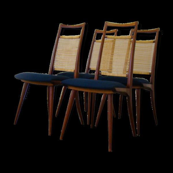 Selency Quatre chaises vintage pour Lubcke