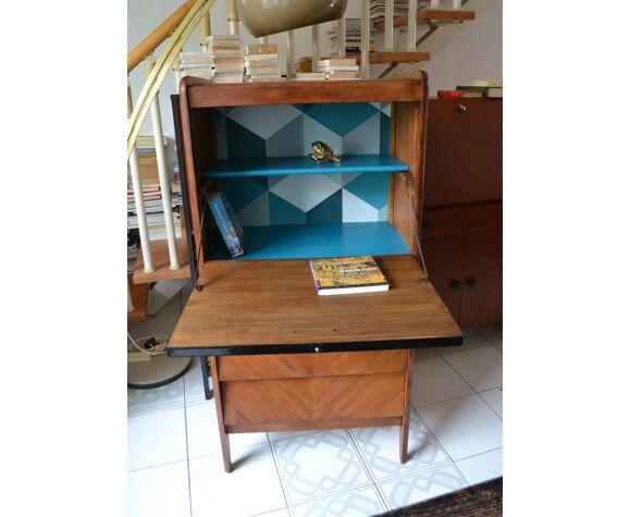 Vintage secretary inclined oak 50s/60s