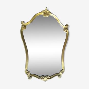 Miroir style régence doré 54x82cm