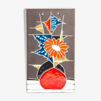 Plaque murale en céramique Flora Holland Plateel
