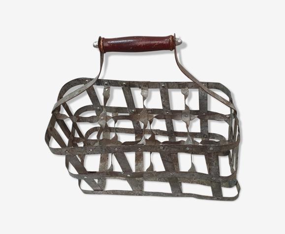 Casier porte-bouteilles métal, 1940