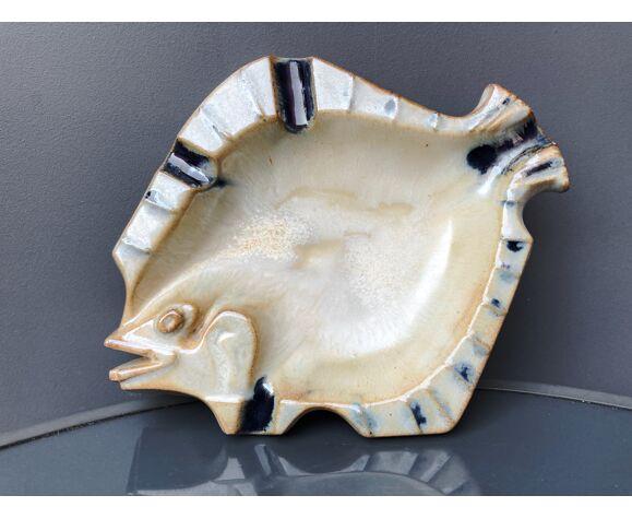 Cendrier poisson en grès  Guerin