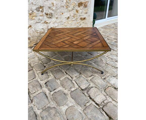 Table basse en parquet de Versailles