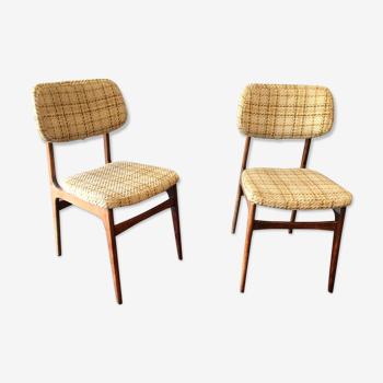 Duo de chaises années 60