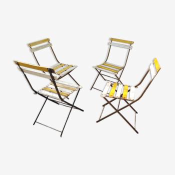 Lot 4 chaises de jardin