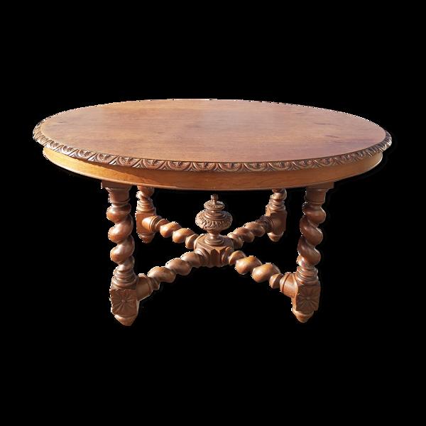 Selency Table ovale en chêne