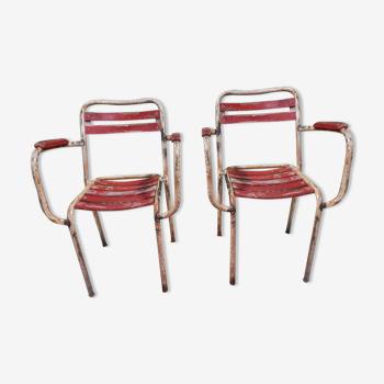 Paire de chaises de jardin Tolix