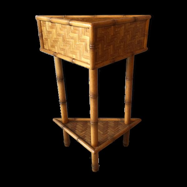 Meuble d'angle en bambou