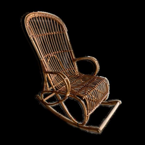 Rocking-chair rotin