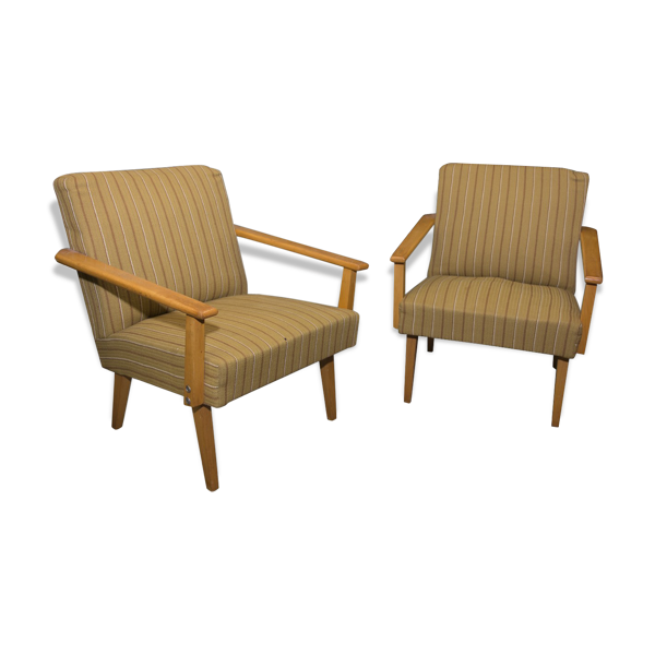 Pair of chairs in the middle of the century 1960s