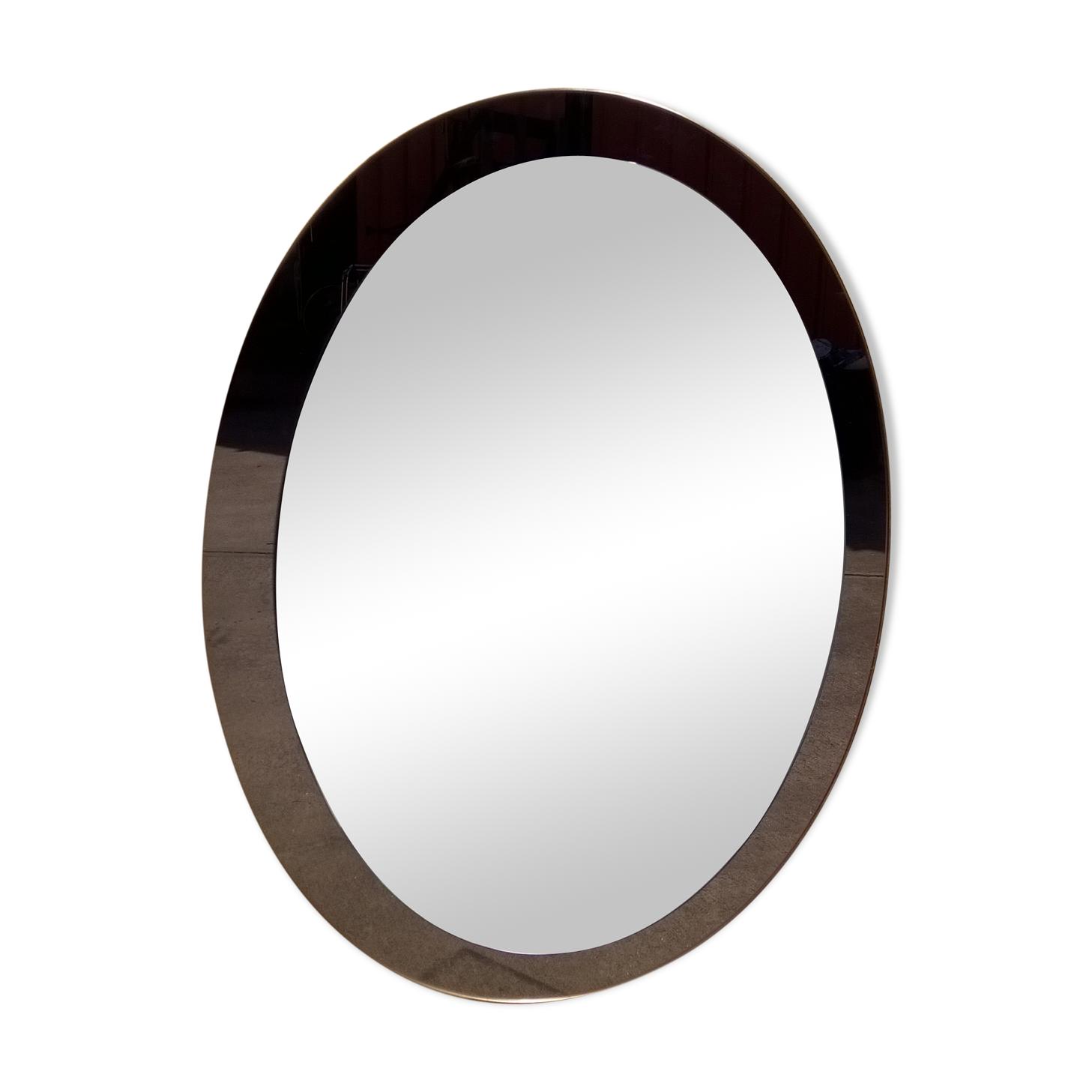 Miroir ovale cristal luxor par Antonio Lupi