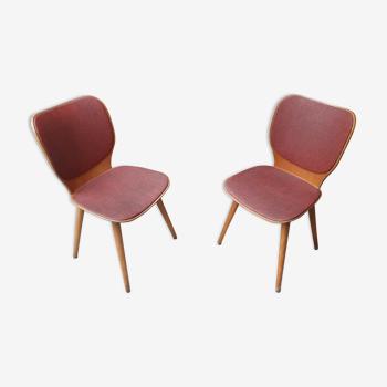 Paire de chaises Baumann vintage