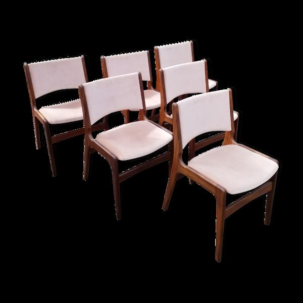 Selency Set de 6 chaises scandinaves