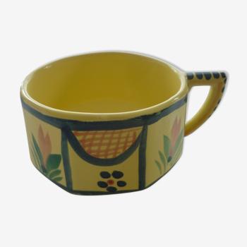 Tasse Quimper jaune