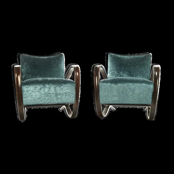 Paire de fauteuils H269 Art Déco Jindrich Halabala