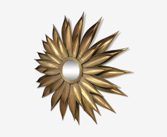 Miroir tournesol en métal 86cm