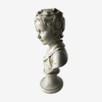 Bust in ceramics, by Alexandre Brongniart