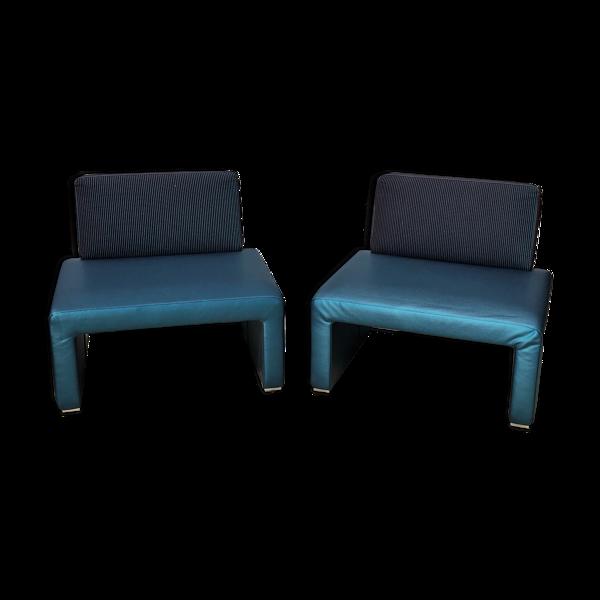 Paire de fauteuils vintage de Tacchini, des années 1980/90