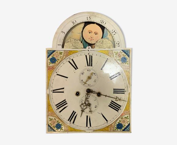 Mouvement d'horloge en tôle polychrome époque XIXème siècle