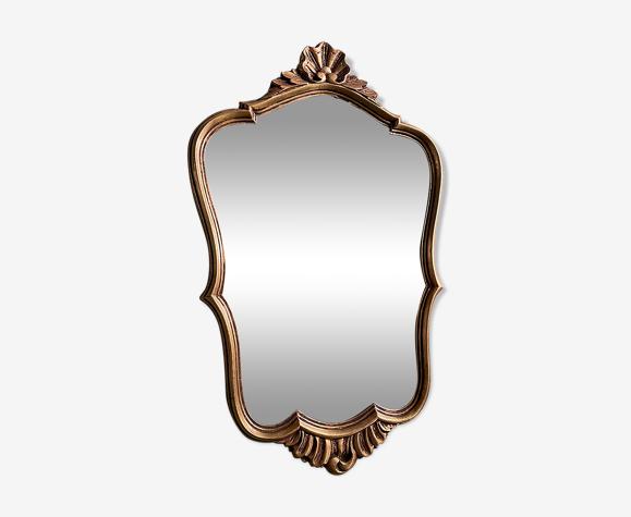 Miroir en résine doré H51 XL32