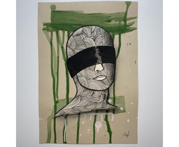 Collage 'untitled' de la série 'blindfolded'