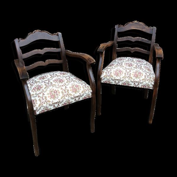Paire de fauteuils de bridge, 1950