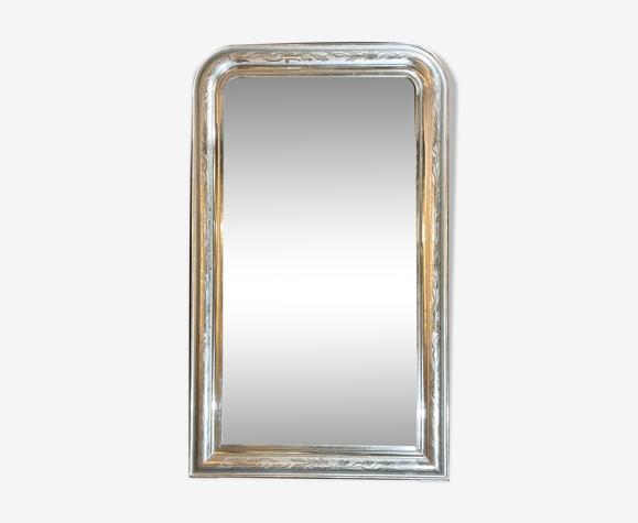 Miroir 126x75 époque Louis-Philippe argenté