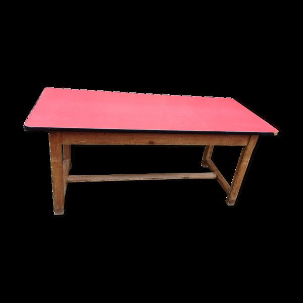 Selency Table de ferme plateau en formica