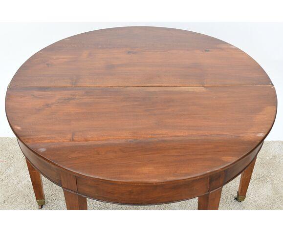 Table demi-lune en noyer