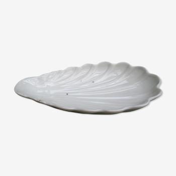 White-fire porcelain dish - Charles Pillivuyt shell