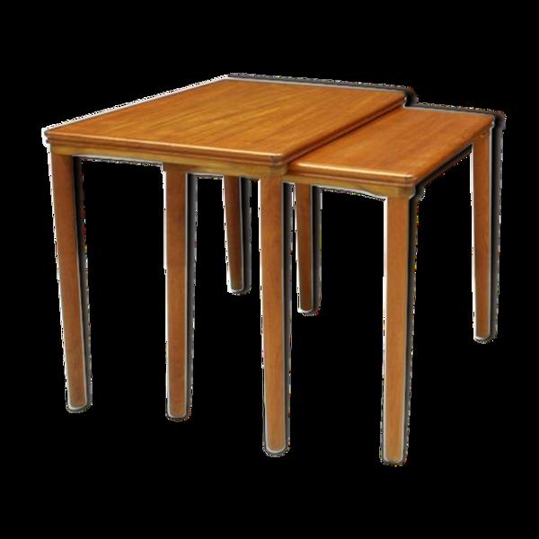 Ensemble de 3 tables gigognes en teck par E. W. Bach pour Møbelfabrikken Toften, années 1960