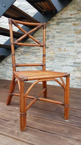 Chaise en rotin vintage