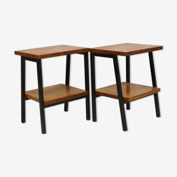Paire de tables vintage années  1950