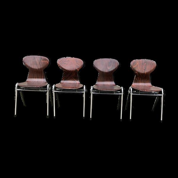 Selency Set de 4 chaises vintage OBO Hollande