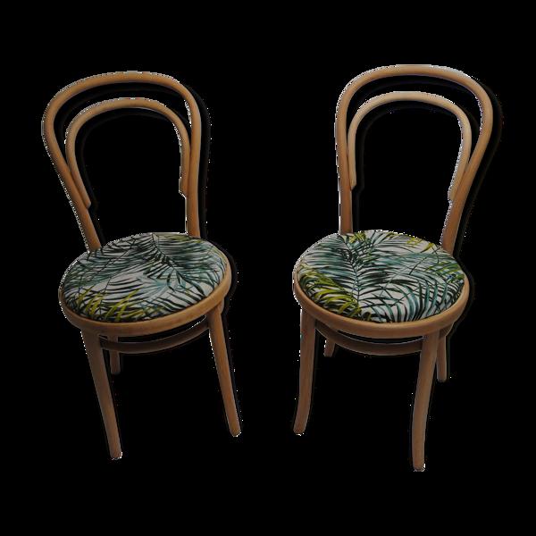 Paire de chaises type brasserie