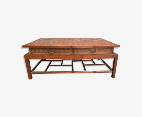 Table basse en bambou roche-bobois