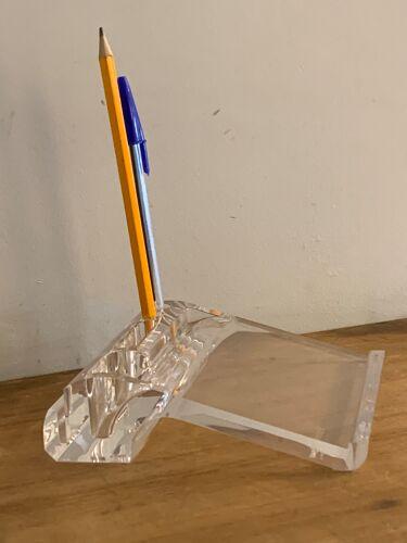 Porte crayons, porte lettres et post-it en lucite transparent Guzzini