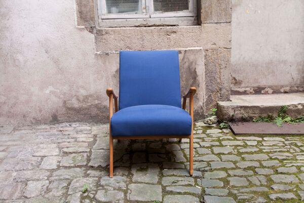 Paire de fauteuils scandinaves des années 60 tissus et mousse neuves