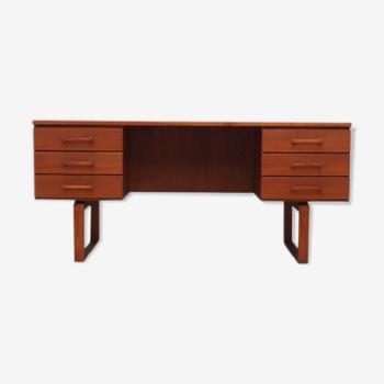 Bureau en teck, design danois, années 1970, designer : H. Jensen, T. Valeur
