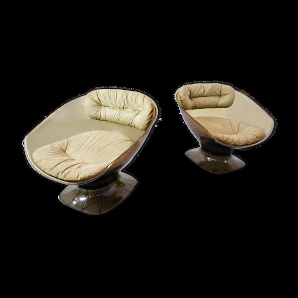 Selency Set de 2 fauteuils par Raphael Raffel France 1960