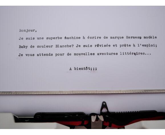 Typewriter hermes baby White qwertz revised ribbon new