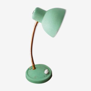 Lampe cocotte de bureau verte