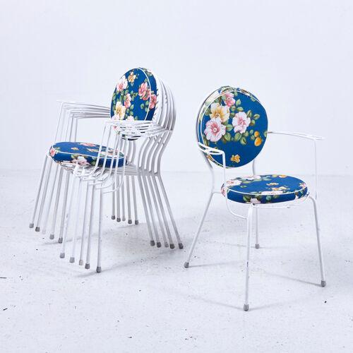 Chaises de jardin sur cadre en fer