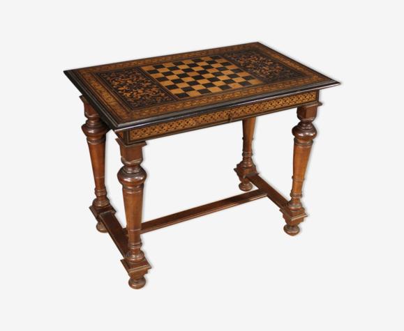 Table de jeu incrustée du 19ème siècle